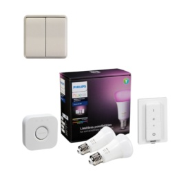 Niko lysdæmper & Philips Hue White+Colour Ambience Starter Kit