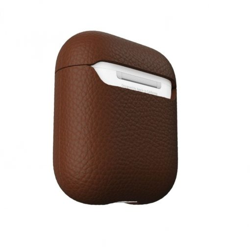 Podskinz Artisan Series Leather Case - Handcrafted Leather Case For Your Airpods Red