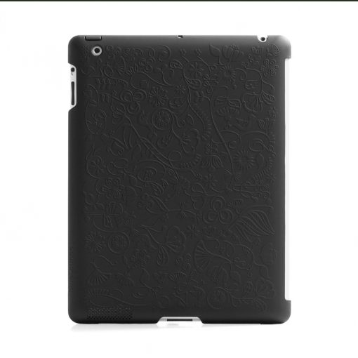 Bluelounge Shell - Case For Ipad 3 And 4 Flower Svart