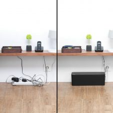 Bluelounge Cablebox - The Original Of The Blue Lounge! Flame-Resistant Cord Storage Black
