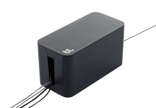 Bluelounge Cablebox Mini - Original From Bluelounge! Flame-Resistant Cord Storage Svart