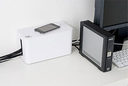 Bluelounge Cablebox Mini - Original From Bluelounge! Flame-Resistant Cord Storage Vit