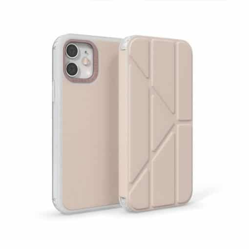 Pipetto Origami Folio - Foldbart Cover Til Iphone 12/12 Pro - Dusty Pink