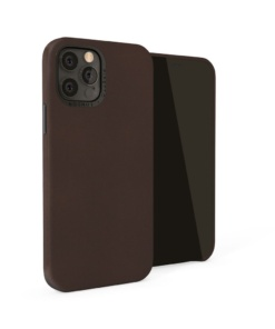 Pipetto Magnetic Leather Case for iPhone 12/12 Pro - with magnetic holder Brown
