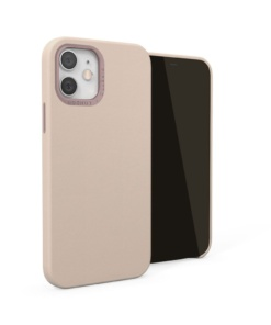 Pipetto Magnetic Leather Case for iPhone 12/12 Pro - with magnetic holder Dusty Pink