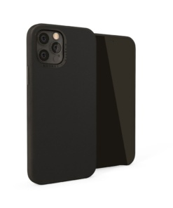 Pipetto Magnetic Leather Case for iPhone 12/12 Pro - with magnetic holder Black