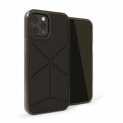Pipetto Origami Snap - Foldbart Cover Til Iphone 12 Pro Max - Sort