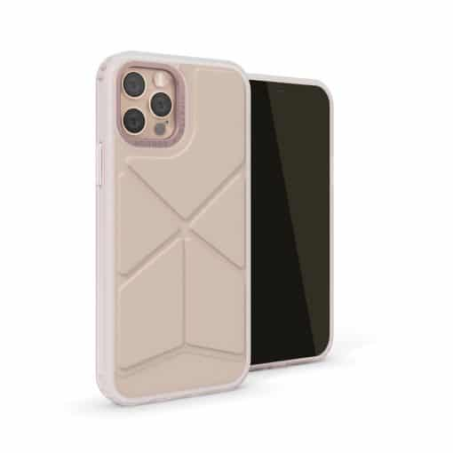 Pipetto Origami Snap - Foldbart Cover Til Iphone 12 Pro Max - Dusty Pink
