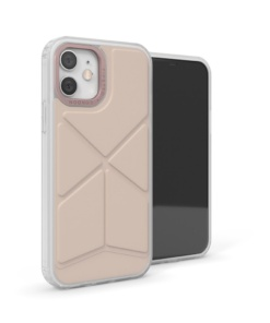 Pipetto Origami Snap for iPhone 12/12 Pro Dusty Pink