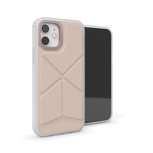 Pipetto Origami Snap - Foldbart Cover Til Iphone 12/12 Pro - Dusty Pink