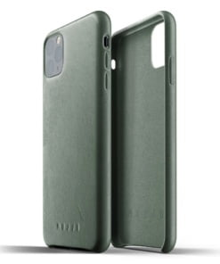 Mujjo Full Leather Case for iPhone 11 Pro Max - Slate Green