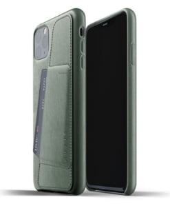 Mujjo Full Leather Wallet Case for iPhone 11 Pro Max - Slate Green