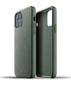 Mujjo Full Leather Case for iPhone 12/12 Pro Slate Green