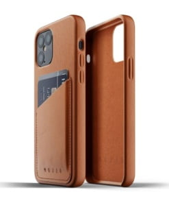 Mujjo Full Leather Wallet Case for iPhone 12/12 Pro Tan