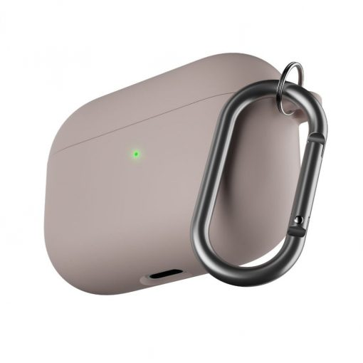 Podskinz Hybridshell Series Keychain Case - Premium Hard Shell Triple Layer Case For Your Airpods Pro Pastel Pink