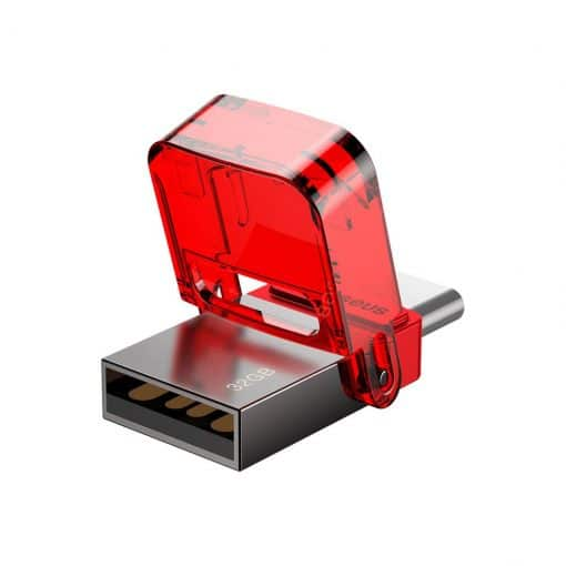 Baseus Red-Hat 32Gb Usb Thumbdrive With Both Usb-C And Usb-A Connection