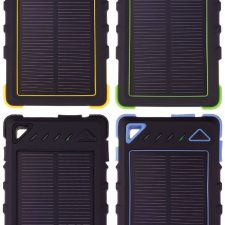 Greylime Power Solar, 8000 Mah Powerbank, 1,2W Solcelle Oplader, Sort