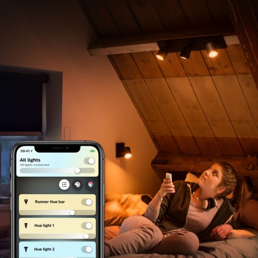 Philips Hue Runner Væglampe/Spot, Bluetooth - Sort