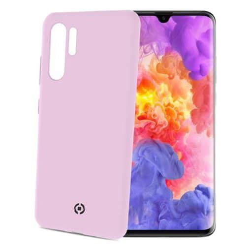 Celly Feeling Huawei P30 Pro Silikone Cover, Lyserød