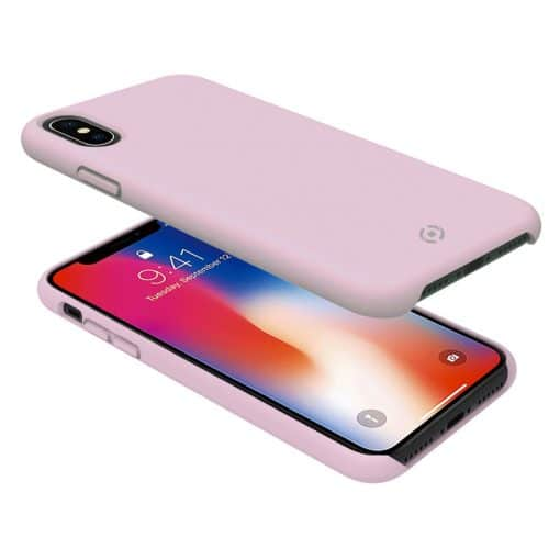 Celly Feeling Iphone X/Xs Silikone Cover, Lyserød