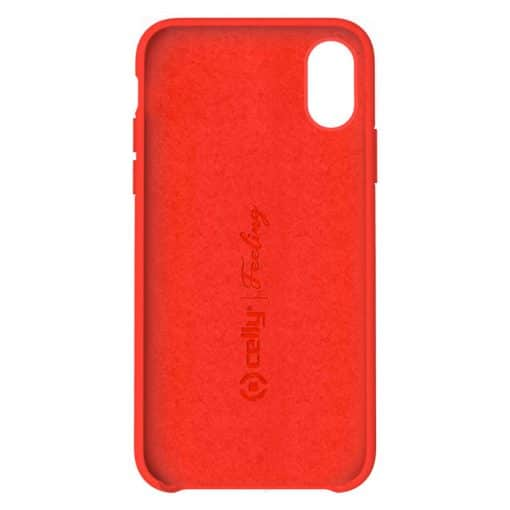 Celly Feeling Iphone X/Xs Silikone Cover, Rød