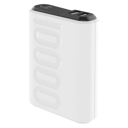 Celly 10.000 Mah 18W Usb-C Pd + Usb-A Quick Charge 3.0 Powerbank, Hvid