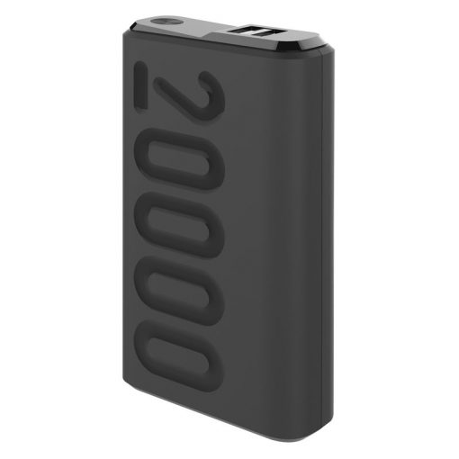 Celly 20.000 Mah 18W Usb-C Pd + Usb-A Quick Charge 3.0 Powerbank, Sort