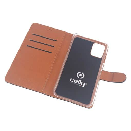 Celly Wally Iphone 11 Cover, Sort/Cognac
