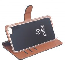 Celly Wally Iphone 6/7/8/Se Cover, Sort/Cognac