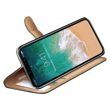 Celly Wally Iphone X/Xs Cover, Sort/Cognac